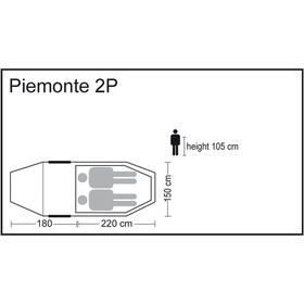 CAMPZ Piemonte 2P Teltta, beige
